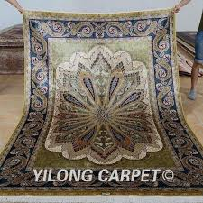 hand knotted rugs carpet rectangle green diy
