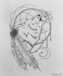 Small Picture Wolves Dream Catcher Coloring Pages wolf dreamcatchers