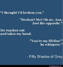 Life Line Quotes Custom You're My Lifeline Fiftyshades Quote Quotes Pinterest