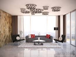 Wallpaper For Small Living Rooms Unique Ceiling Lighting And Wallpaper Idea For Open Plan Small