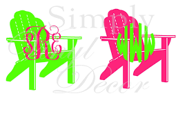 personalized beach chairs. Monogrammed Beach Chair Decal By SimplyVinylDecor On Etsy With Amazing Personalized Chairs