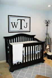 Baby Monogram Wall Decor Baby Room Endearing Ideas For Brown And Blue Baby Nursery Room
