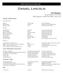 Musician Resume Example Resume Samples Examples Sample Musician