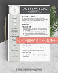 Veterinary Resume New Veterinarian Resume Vet Tech Resume Vet Resume Veterinary Cv Etsy