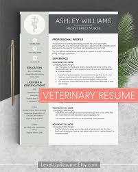 Veterinary Resume New Veterinarian Resume Vet Tech Resume Vet Resume Veterinary Cv Etsy