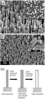 application of the kirkendall effect to morphology control of sem images of the zno nanowire template arrays a and the resulting gan