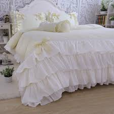princess yellow ruffle duvet cover set