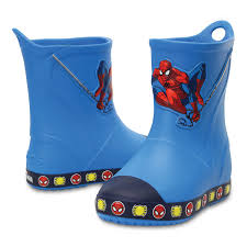spider man crocs rain boots for boys shopdisney