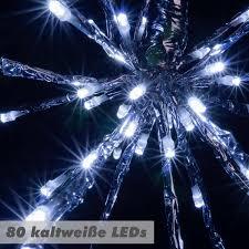 80 Led Meteor Stern Kalt Weiß 40 Cm Trafo Weihnachtsstern