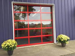 clear glass garage door. Exterior Full View Commercial Garage Doors Excellent On In Door All Seasons Clear Glass G