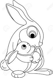 Easter Bunny Coloring Page Royalty Stock Photography Image Baby ...