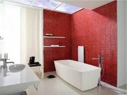 red white and black bathroom decor
