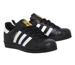 adidas shoes superstar black and white. adidas-superstar-1-black-white-foundation-trainers-shoes adidas shoes superstar black and white r