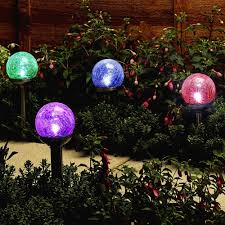 Crackle Glass Globe Solar Lights Colorful Crackle Glass Globe Solar Light Solar Graden Lights