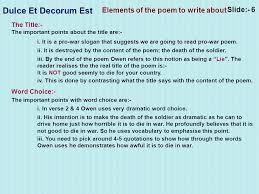 my admission essay best university essay ghostwriter services usa contrast between dulce et decorum est and the ier engl marked by teachers wilfred owen dulce