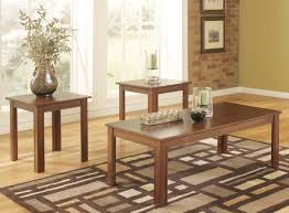 wood coffee table and end tables ashley furniture