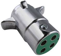 pollak heavy duty 4 pole round pin trailer wiring connector next