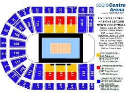 Sears Centre Arena Seating Chart View Elcho Table