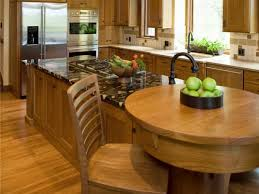 Granite Kitchen Island With Built-In Table