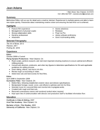 Amazing Media Entertainment Resume Examples Livecareer Video Editor