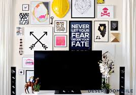 gallery on the wall is a great way to deal with this challenge below are presented fifteen ways how to arrange a wall gallery and fit a tv into it