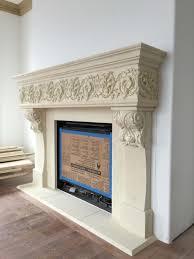 cast stone gfrc fireplace surround dola