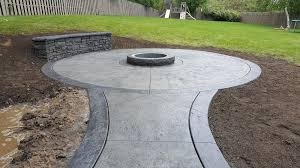 stamped concrete patio. Stamped Concrete Patios, Driveways, Sidewalks, Steps, Seat Walls, Firepits, Patio R