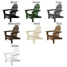 polywood folding adirondack chairs. Interesting Adirondack POLYWOODu0026reg Classic Folding Straight Back Adirondack Chair In Polywood Chairs