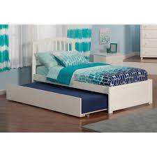 Atlantic Furniture Richmond Twin Flat-panel White Urban Trundle with ...