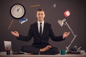 meditation businessman office. businessman meditating desk office mindfulness meditation e