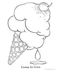 waffle cone coloring page. Plain Page Coloring Pages Ice Cream Sundae To Print  With Waffle Cone Coloring Page C