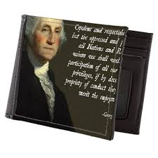 George Washington Quote Delectable George Washington Immigration Quote Mens Wallet By AdminCP48