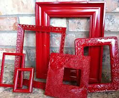 Red Photo Frames Add Red Frames In A Grey And White Stripped Entry Gorgeous