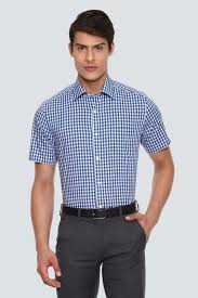 Louis Philippe Shirts Louis Philippe Blue Shirt For Men At Louisphilippe Com