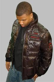 coogi black puffy nylon jacket