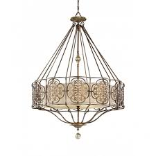 marcella chandelier style pendant light bronze fretwork
