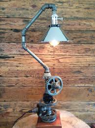 pipe floor lamp harry handcrafts table and lamps using materials such as metal gas exotic woods automotive parts salvaged items diy pvc