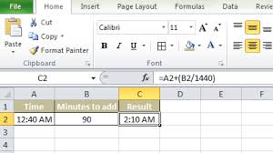 Add Minutes To Time In Hh Mm Format In Ms Excel Infojinx Com