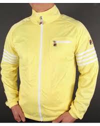fila yellow. fila vintage 4 stripe track top yellow/white yellow o