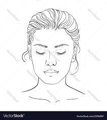 Blank Face Chart Face Chart Makeup Artist Blank Template