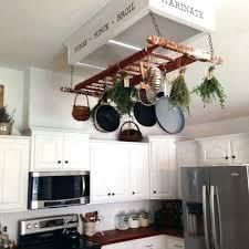 pots and pans hanging rack pot pan rack kitchen pots and pans hanging rack with lights
