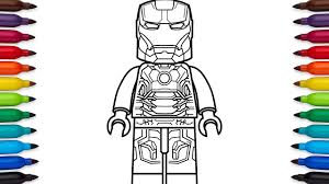 Small Picture How to draw Lego Iron Man Mark 43 Marvel Superheroes coloring