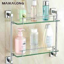 mercury glass bathroom accessories. Bathroom Glass Accessories Square Design Double Shelf Chrome Finish Shelves Mercury Uk .