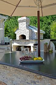 Pizza Oven Outdoor Kitchen Holbrook Ny Entertertainers Dream Above All Masonry