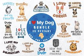 They are intelligent, and playful. I Love My Dog Bundle Graphic By Graphipedia Creative Fabrica