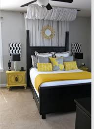 Black And Yellow Bedroom Ideas 2