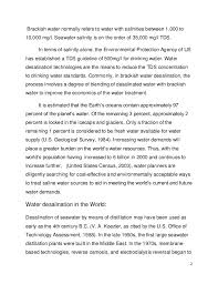 essay on water desalination  2 2 brackish water