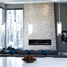 grey tile fireplace contemporary living room in tones dark gray