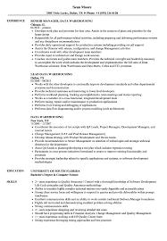 Data Warehousing Resume Samples Velvet Jobs