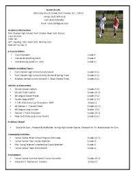 Athletic Resume Sample Eliolera Com